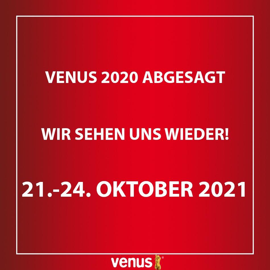 VENUS Erotikmesse 2020 abgesagt